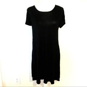 Old Navy Short Sleeve Black Soft Dress